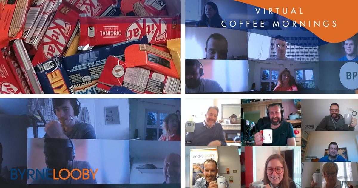 ByrneLooby Offices host a series of Virtual Coffee Mornings to support local charities