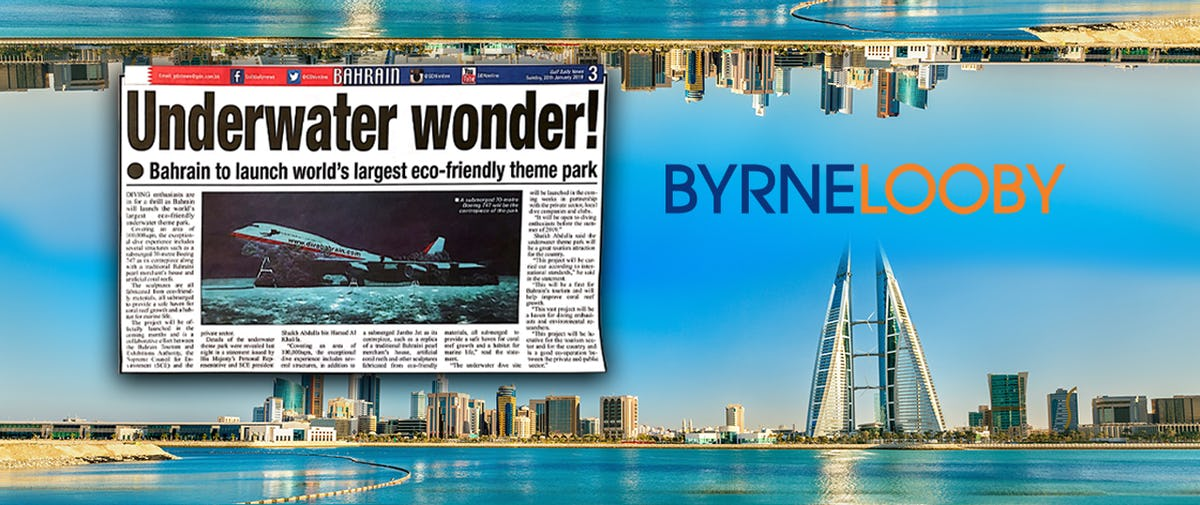 ByrneLooby Bahrain sink plane for Diver's Pleasure