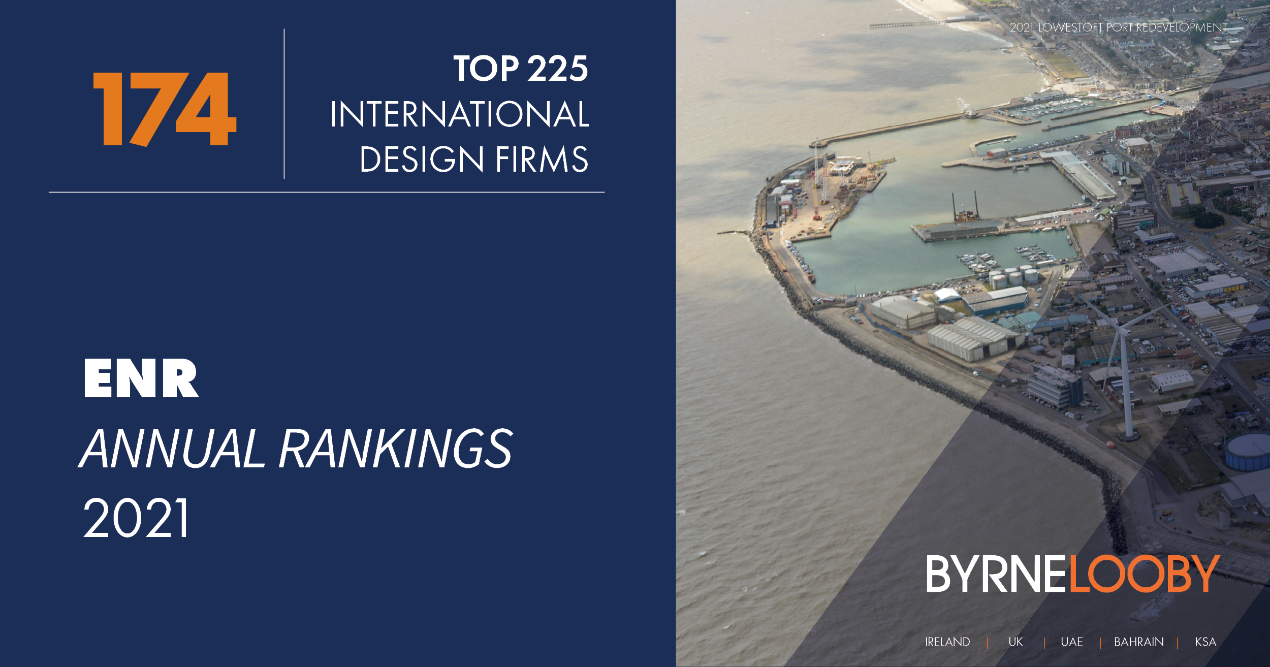 BYRNELOOBY RANKED IN THE ENR TOP 225 INTERNATIONAL ENGINEERING DESIGN FIRMS IN THE WORLD